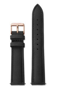 Cluse La Bohème Womens Leather Watch Strap Black/Rose Gold CLS001