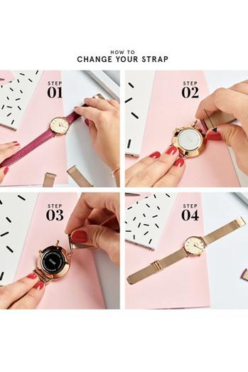 Cluse La Bohème Womens Leather Watch Strap Pink/Rose Gold CLS004