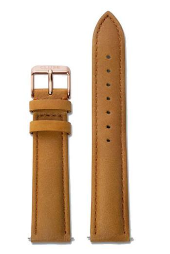 Cluse La Bohème Womens Leather Watch Strap Caramel/Rose Gold CS1408101002