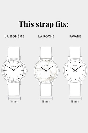CLUSE watch strap size guide
