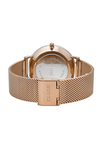 Cluse La Boheme Mesh Rose Gold/White Womens Mesh Watch CL18112
