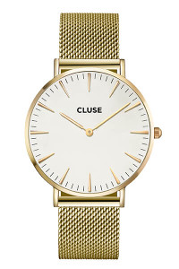 Cluse La Bohème Mesh Gold/White Womens Mesh Watch CL18109