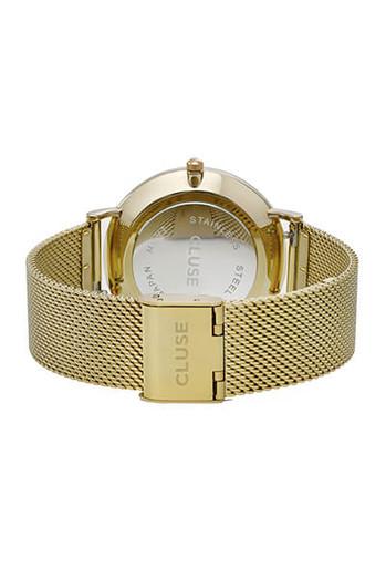 Cluse La Bohème Mesh Gold/White Womens Mesh Watch CL18109