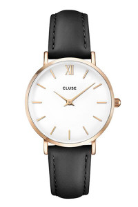 Cluse Minuit Rose Gold White/Black Watch CL30003