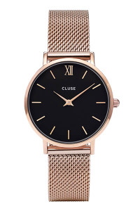 Cluse Minuit Rose Gold Mesh/ Black CL30016
