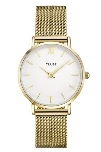 Cluse Minuit Mesh Gold/White CW0101203007