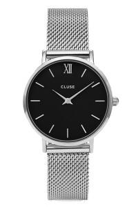 Cluse Minuit Silver Mesh/Black CL30015