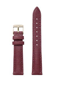 Cluse Minuit Watch Strap Burgundy Lizard/Gold CLS379