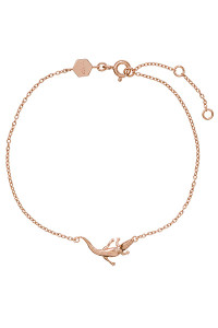 Cluse Force Tropicale Rose Gold Alligator Chain Bracelet CLJ10021