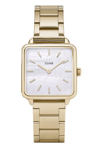 Cluse La Tétragone Three Link Gold/White Pearl CL60026S