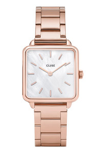 Cluse La Tétragone Three Link Rose Gold/White Pearl Watch CL60027S
