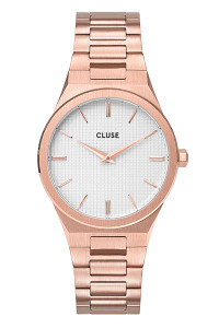 Cluse Vigoureux 33 Rose Gold/Snow White Rose Gold Watch CW0101210001