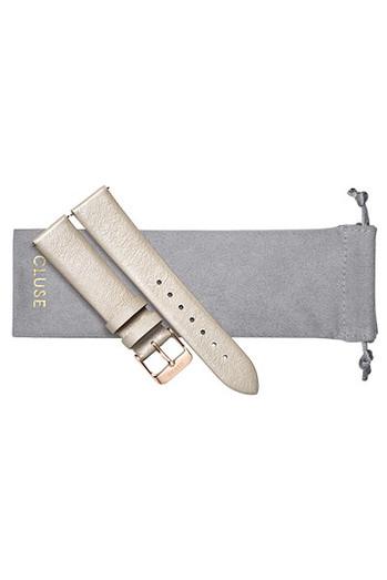 Cluse 18mm Watch Strap Warm White Metallic/Rose Gold CS1408101056
