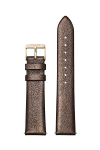 Cluse 18mm Watch Strap Chocolate Brown Metallic/Gold CS1408101057
