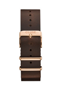 Cluse 20mm Nato Watch Strap Rose Gold/Dark Brown CS1408101070