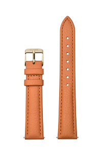 Cluse 16mm Watch Strap Sunset Orange/ Gold Leather CS1408101083