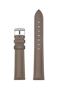 Cluse 16mm Watch Strap Taupe/Silver Leather CS1408101082