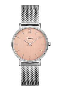 Cluse Minuit Mesh Silver/Rose Gold Watch CW0101203029