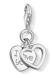 Thomas Sabo Charm Pendant I LOVE YOU Hearts CC852