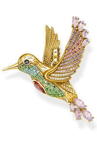 Thomas Sabo Pendant Colourful Hummingbird Gold TPE875Y