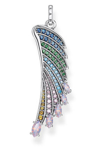 Thomas Sabo Pendant Bright Silver-coloured Hummingbird Wing TPE876
