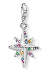 Thomas Sabo Charm Pendant Colourful Star, Silver CC1817 (CC1817)