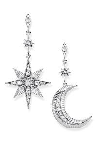 Thomas Sabo Earrings Royalty Star & Moon Silver TH2026