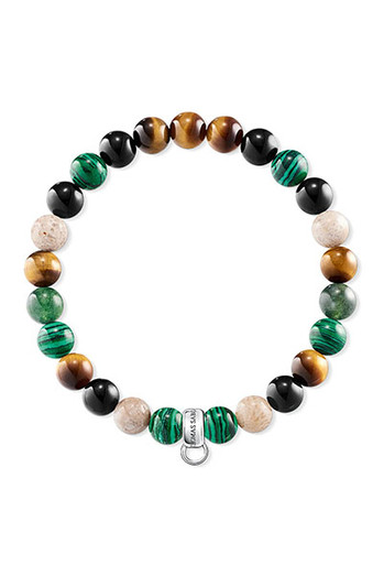 Thomas Sabo Charm Bracelet Brown, Green, White CX0217M