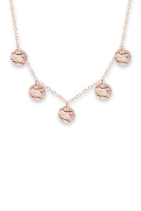 Bianc Rose Gold Scattered Jingle Necklace 30100150