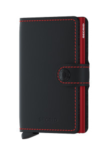 Secrid Miniwallet Matte Black Red Wallet SC7247