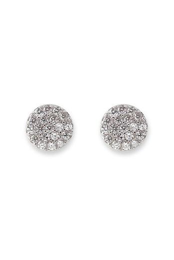 Bianc CZ Pave Disc Earrings 10100158