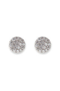 Bianc CZ Pave Disc Earrings 10100158