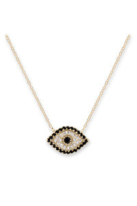 Bianc Gold CZ Evil Eye Necklace 30100159