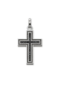 Thomas Sabo Pendant Black Cross Pavé TPE530BCZ