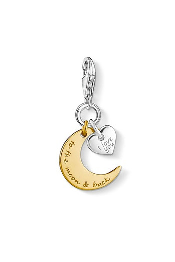 Thomas Sabo Charm Pendant Moon & Heart I Love You To The Moon & Back CC1443