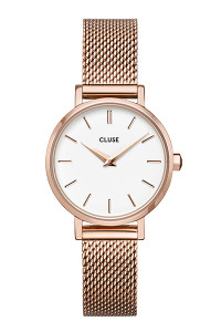 Cluse La Boheme Petite Mesh Rose Gold/White Watch CW0101211003