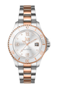 Ice Steel Silver Rose Gold Small 3H Watch 17322