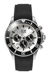 Ice Steel Silver/Black 44mm Large Watch 16302