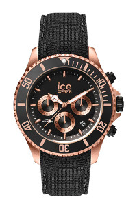 Ice Steel Rose Gold/Black 44mm Large Watch 16305