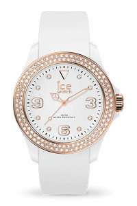 Ice Star White Rose Gold Smooth Small 3H Watch 17232