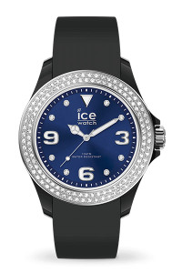 Ice Star Black Deep Blue Smooth Small 3H Watch 17236