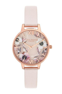 Olivia Burton Semi Precious Rose Gold Pearl Pink Watch OB16SP14