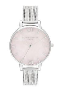 Olivia Burton Semi Precious Silver Mesh Watch OB16SP18