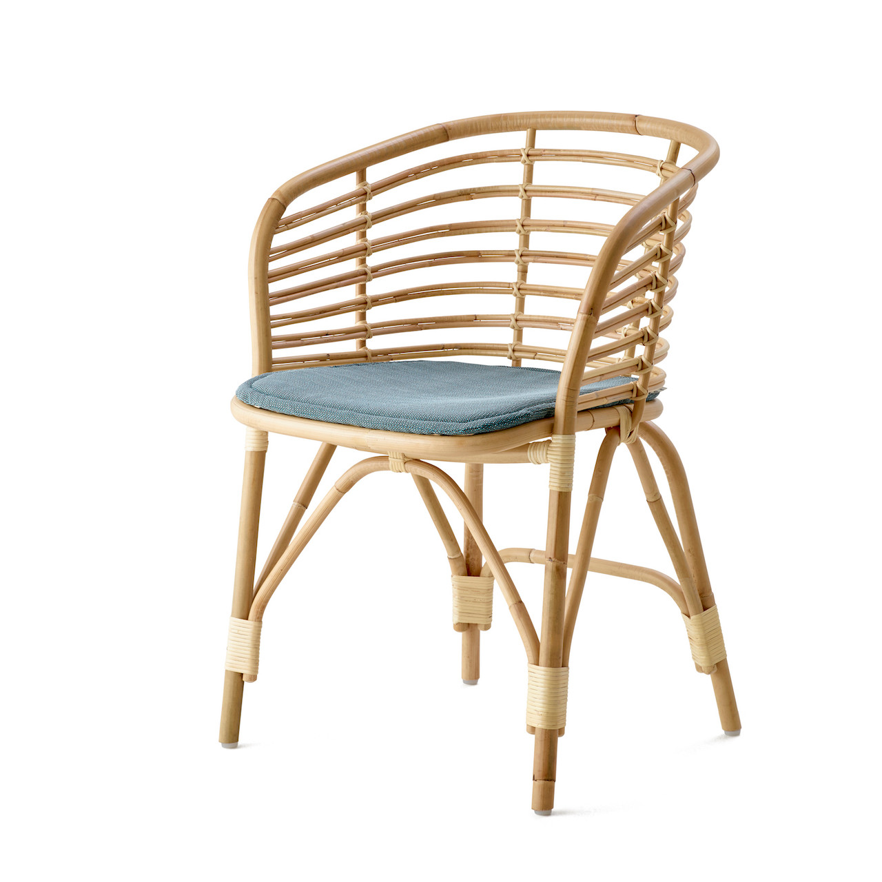 Superieur Cane Line Blend Rattan Dining Chair With Turquoise Grey Cushion