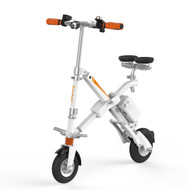 E6 Electric Bicycle - White Foldable