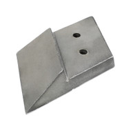 """10"""" Chrome Replaceable Wing to Suit DMI Shank LH 09907003, Shank Left Hand to Fit Case/DMI (09907003C)"""