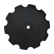"26"" x 8mm Notched Raised Crimp Center Disc Blades (DNF178061)"