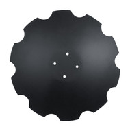 """23"""" x 5mm, 4 on 4.33"""" with no Pilot Hole & M12 Bolt to Fit Pottinger Terradisc, Notched Flat Back Disc Blades (DNF145066E5)"""