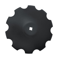 "22"" x 5mm Notched Raised Crimp Center Disc Blades (DNF135061)"