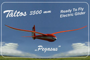 "Táltos 3500mm RTF ""Pegasus"" Electric Glider with airbrake and free shipping"